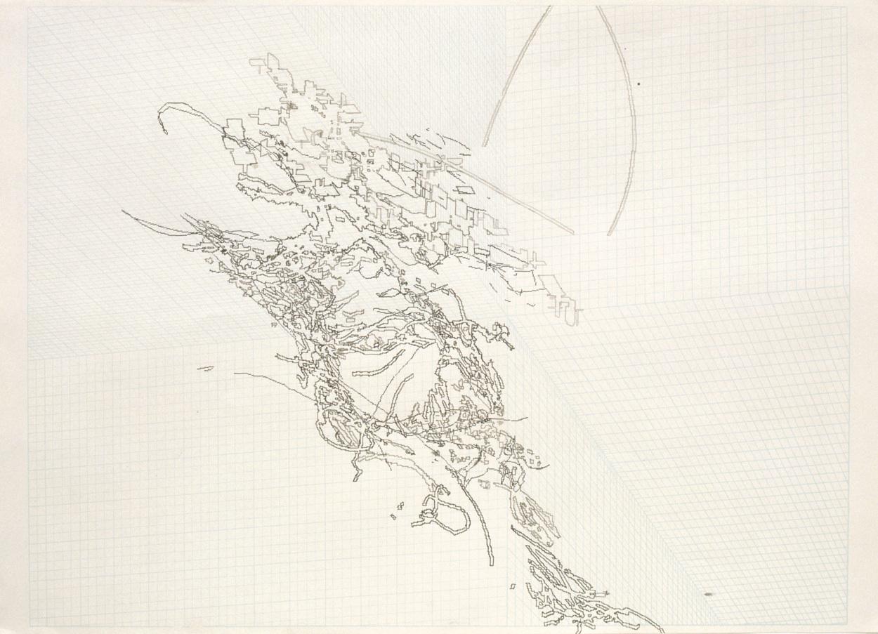 3d Line Drawings : Ben nevis d drawings claude heath